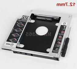 2nd Hard Drive HD SSD Enclosure Caddy Adapter Case Tray for