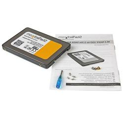 StarTech.com M.2 NGFF to 2.5in SATA III SSD Adapter w/ Prote